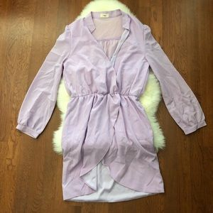 TOBI Long Sleeve Lavender Dress